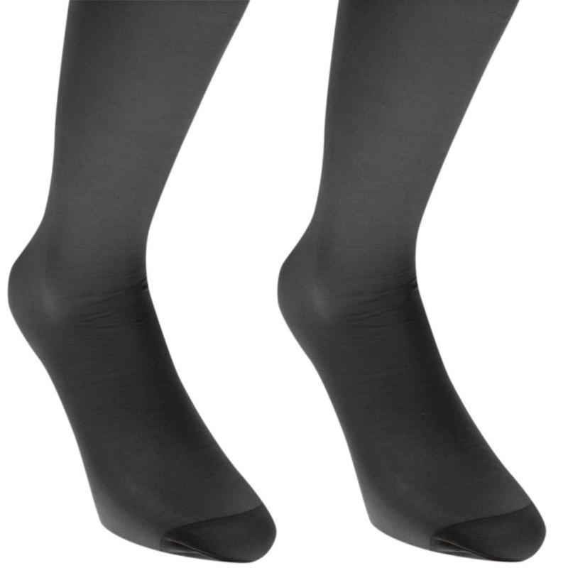 Ponožky Miso Knee High 2 Pack Ladies Black