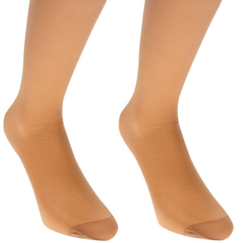 Ponožky Miso Knee High 2 Pack Ladies Nude