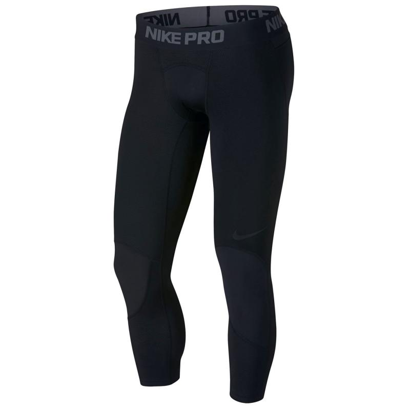 Nike Pro three quarter Basketball Tights Mens Black