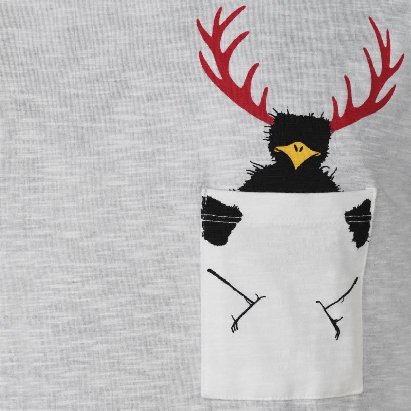 Tričko Chillaz Street Hirschkrah T Shirt Mens Grey