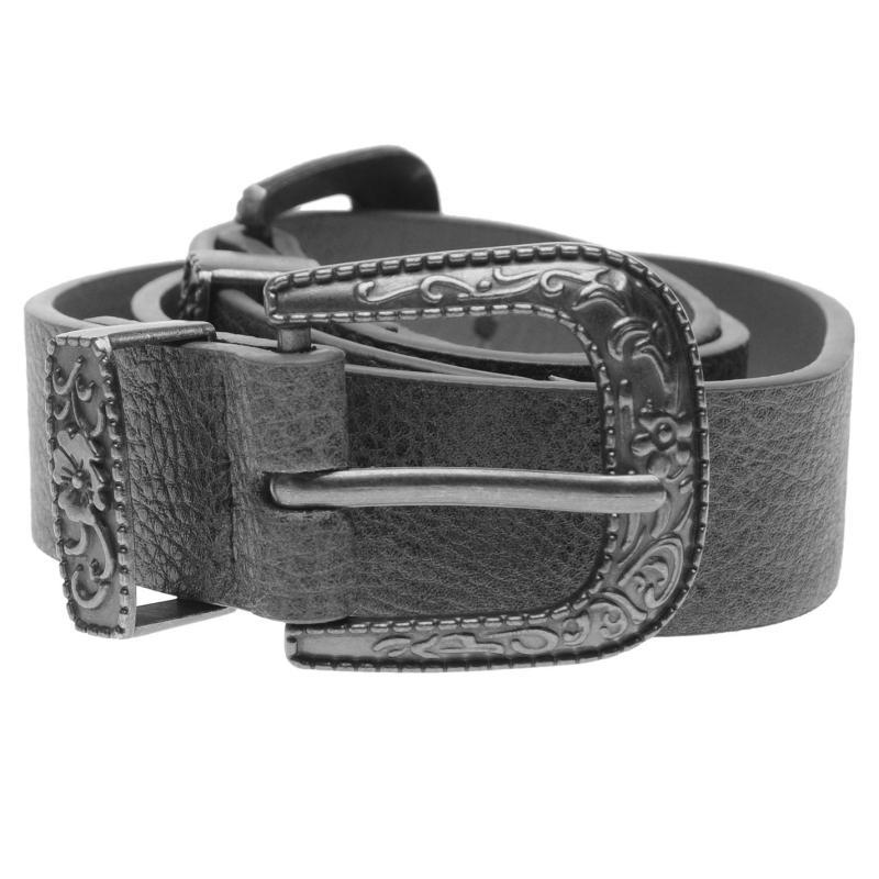 Firetrap Double Buckle West Belt Ladies Grey