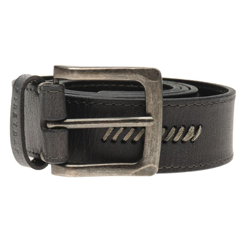 Firetrap Stitch Belt Mens Dark Grey