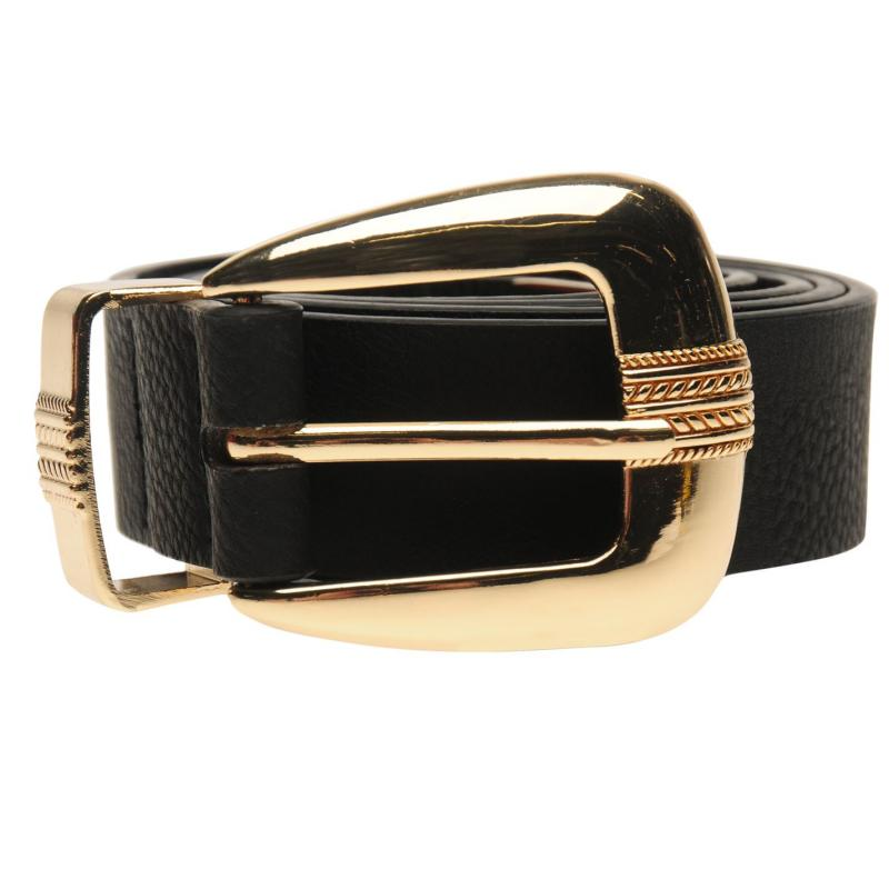 Golddigga Plain Belt Ladies Black
