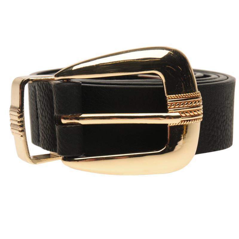Golddigga Plain Belt Ladies Black