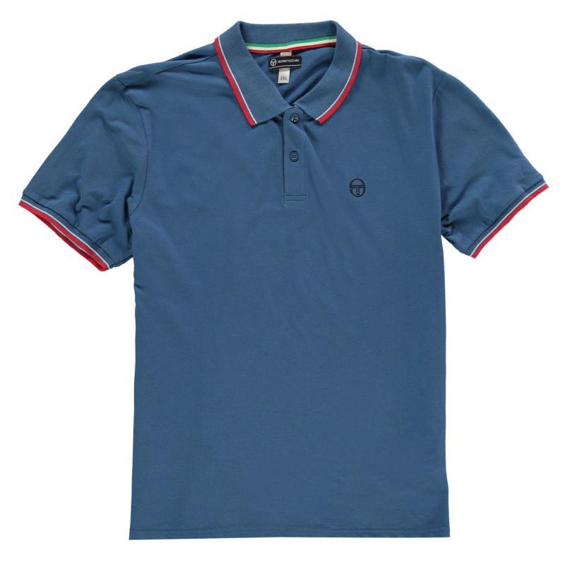 Sergio Tacchini Zuck Polo Shirt Mens Blue