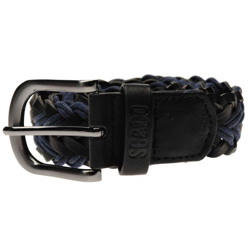 SoulCal Corded Belt Mens Black/Navy
