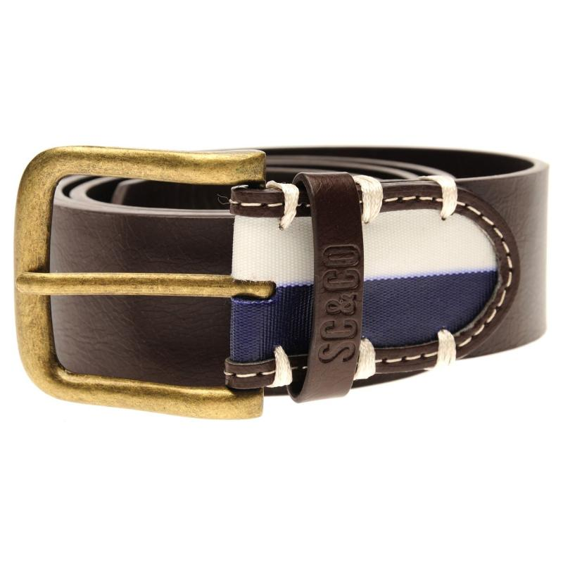 SoulCal Dual End Belt Mens Brown/Blue/Wht