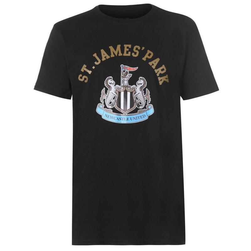 Source Lab Newcastle United Crest T Shirt Mens Black