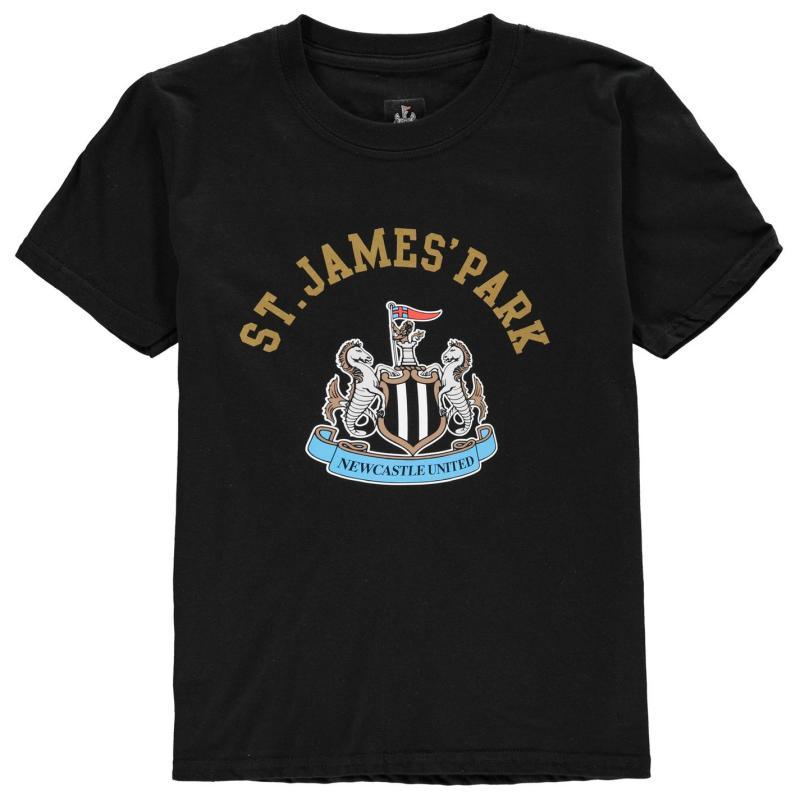Source Lab Newcastle United FC Crest T Shirt Junior Boys Black