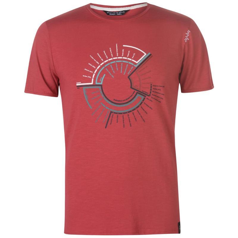Tričko Chillaz Map T Shirt Mens Red