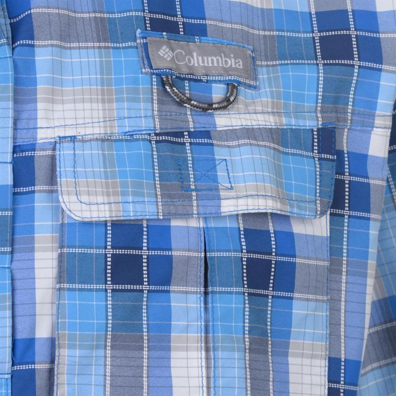 Columbia Casacade Short Sleeve Shirt Mens Blue