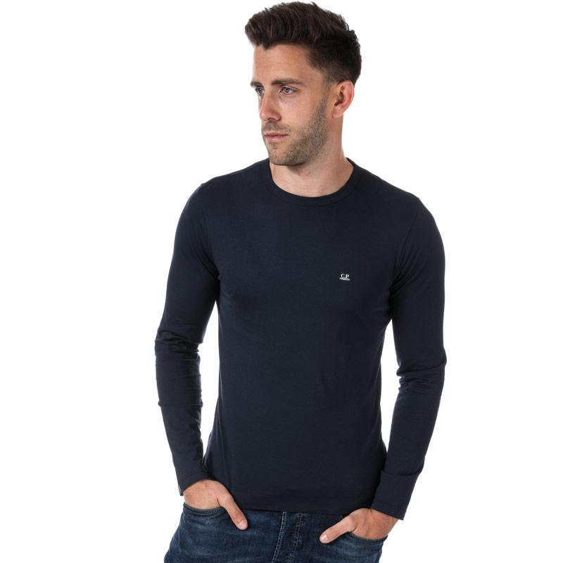 Tričko C.P. Company Mens Chest Logo Long Sleeve T-Shirt Navy