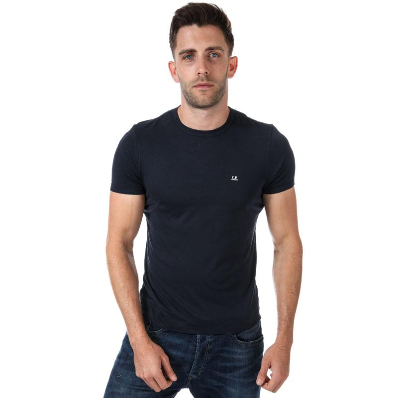 Tričko C.P. Company Mens Chest logo Short Sleeve T-Shirt Navy