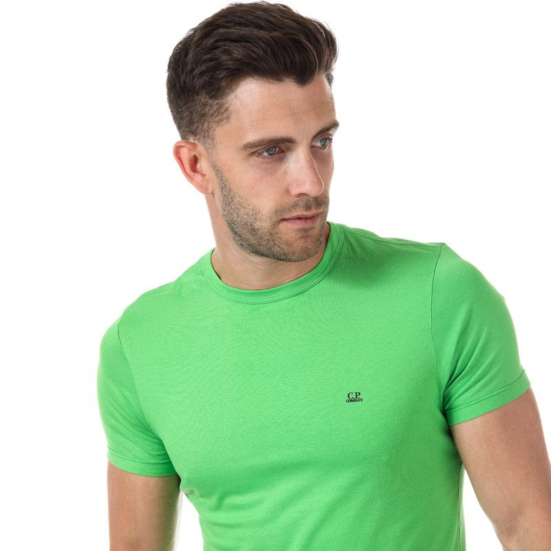 Tričko C.P. Company Mens Chest logo Short Sleeve T-Shirt Green