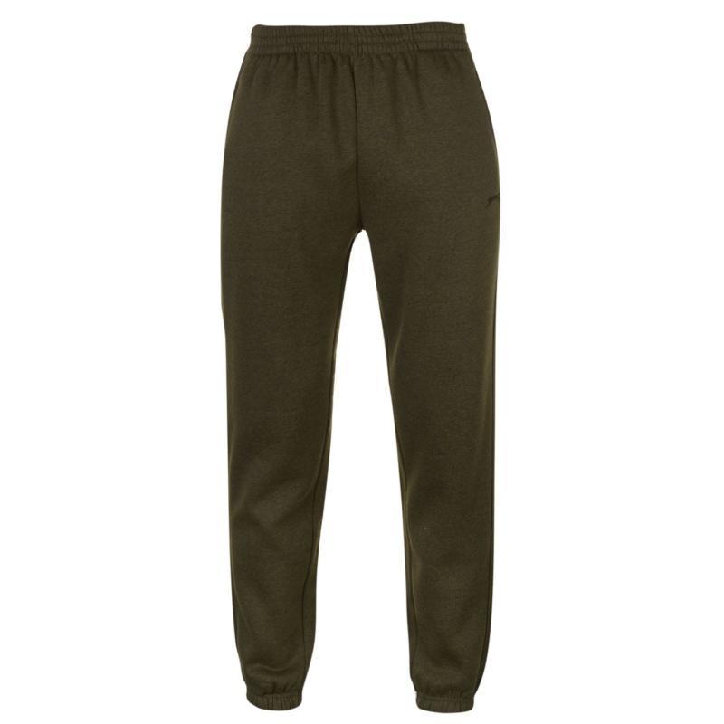 Tepláky Slazenger Cuffed Fleece Jogging Pants Mens Khaki Marl