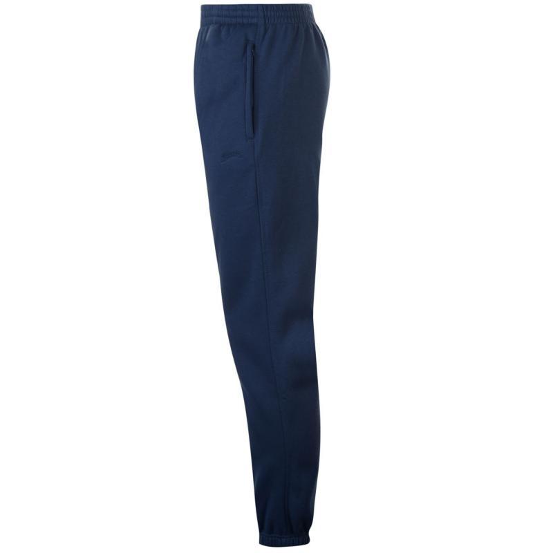 Tepláky Slazenger Cuffed Fleece Jogging Pants Mens Steel Blue