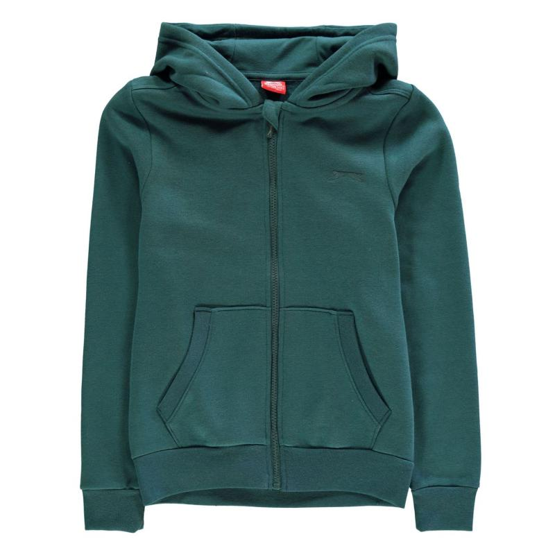 Mikina Slazenger Full Zipped Hoody Junior Light Teal