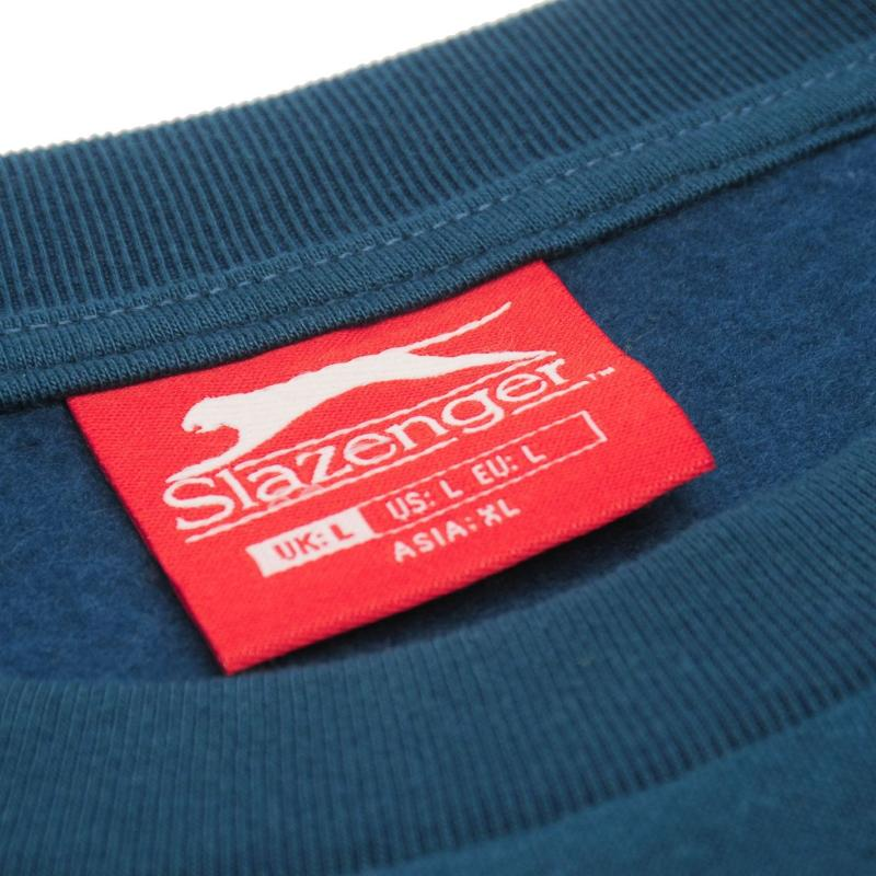 Mikina Slazenger SL Fleece Crew Sweater Mens Steel Blue