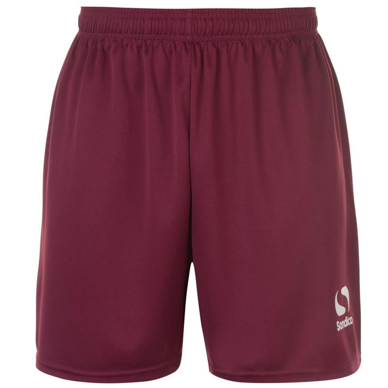 Sondico Football Shorts Mens Maroon