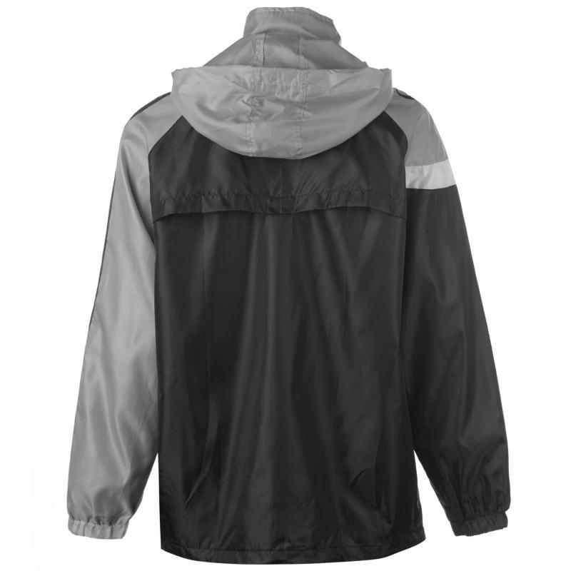 Sondico Spirit Rain Jacket Mens Black/Grey