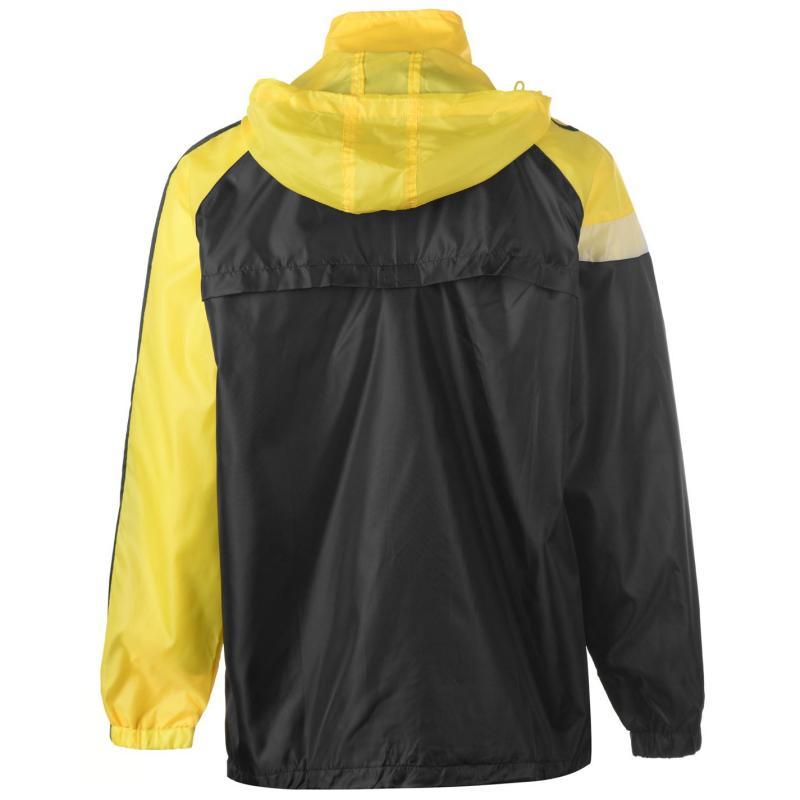 Sondico Spirit Rain Jacket Mens Black/Red