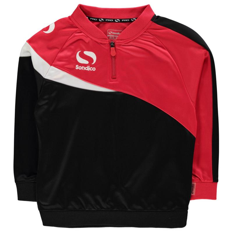Mikina Sondico Zip Sweatshirt Junior Boys Black/Red