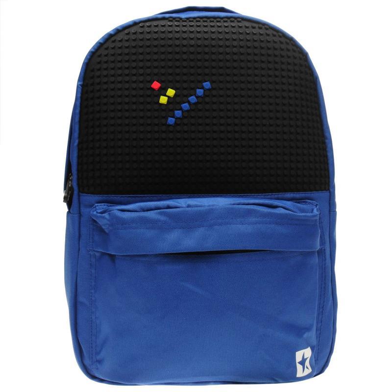 Star Block Backpack Blue