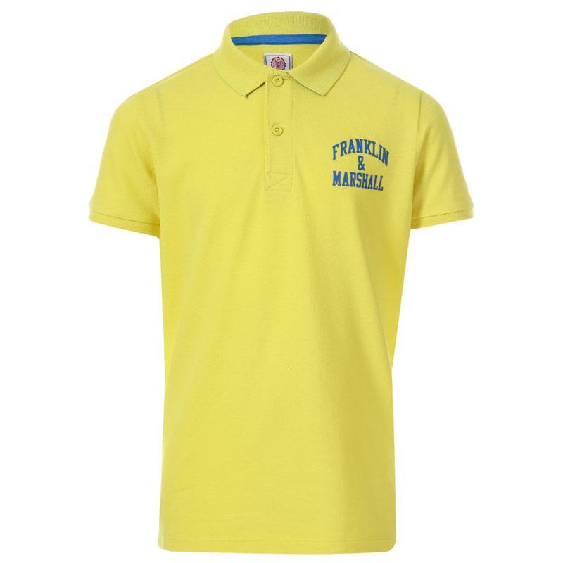 Tričko Franklin And Marshall Infant Boys Core Logo Polo Shirt Yellow