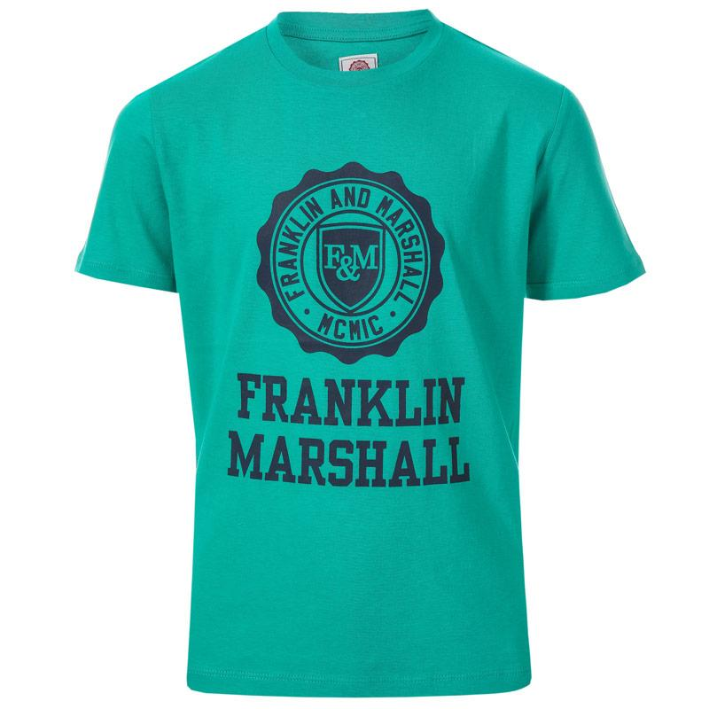 Tričko Franklin And Marshall Junior Boys F and M Logo T-Shirt Green
