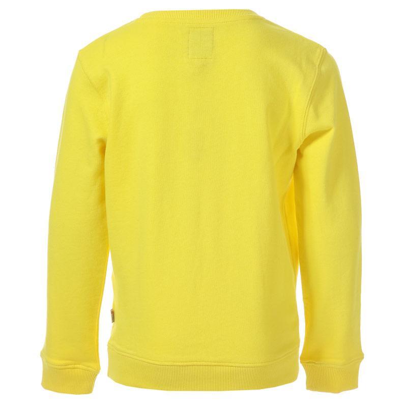 Mikina Franklin And Marshall Junior Boys Logo Crew Sweat Yellow