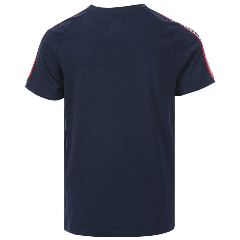 Tričko Franklin And Marshall Junior Boys Shoulder Taped T-Shirt Navy