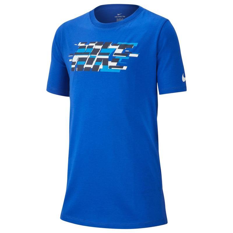 Tričko Nike Distorted T Shirt Junior Royal