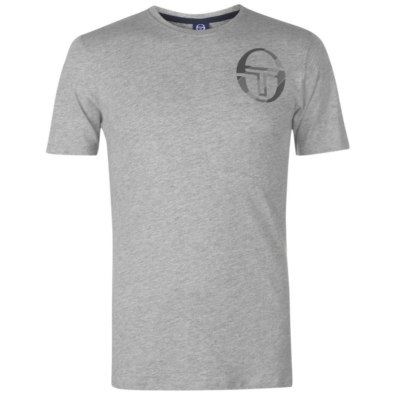 Tričko Sergio Tacchini Zang T Shirt Mens Grey/Blue
