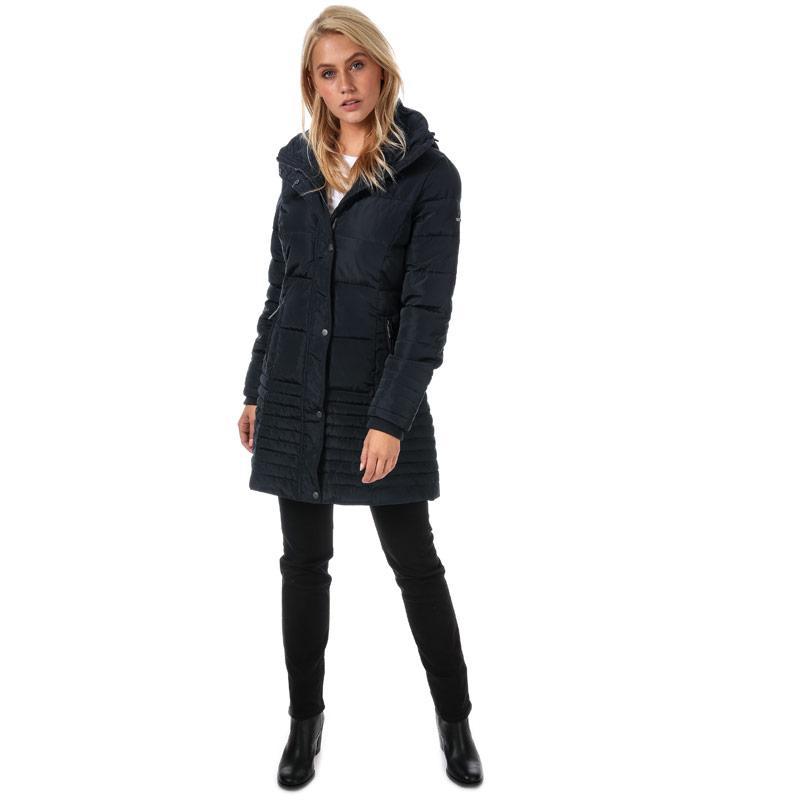 Elle Womens Flore Coat Navy Velikost - 12 (M)
