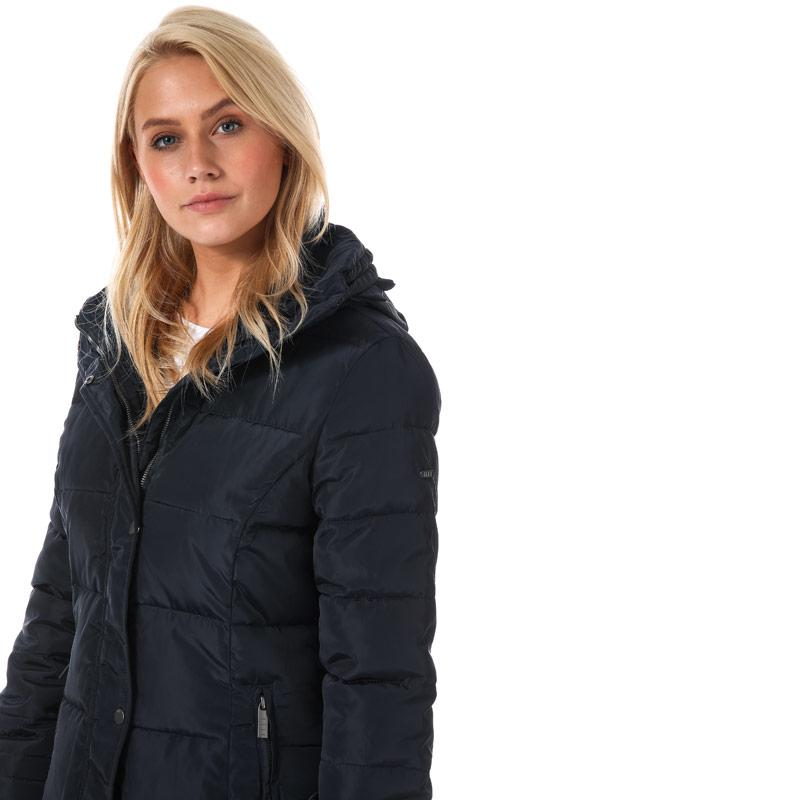 Elle Womens Flore Coat Navy