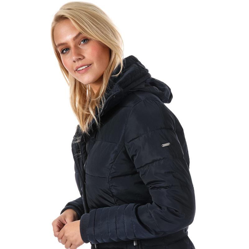 Elle Womens Flore Coat Navy