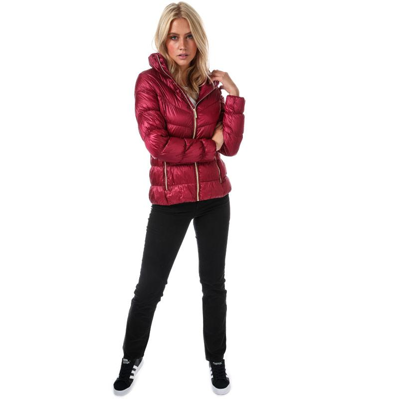 Elle Womens Margot Jacket Burgundy
