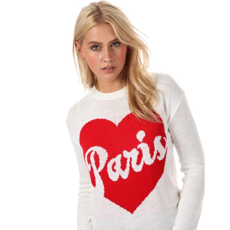 Svetr Daisy Street Womens Paris Jumper Cream