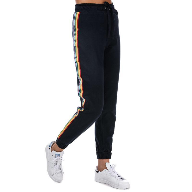 Sportovní kalhoty Daisy Street Womens Side Stripe Jog Pants Navy