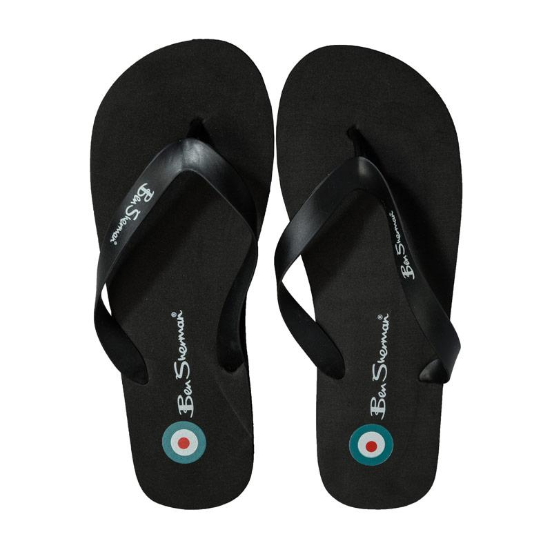 Ben Sherman Mens Falmouth Flip Flop Beach Shoe Black