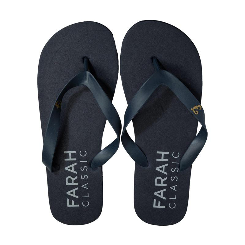 Farah Mens Shore Flip Flop Beach Shoe Navy