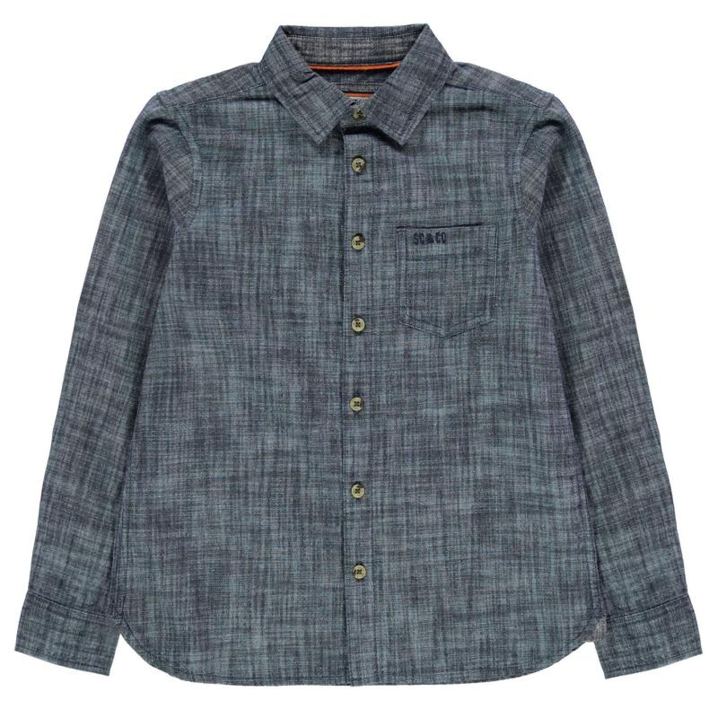 Košile SoulCal Long Sleeve Shirt Junior Boys Mid Wash