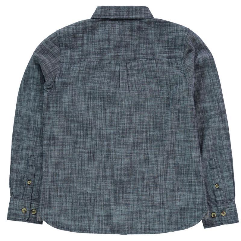 Košile SoulCal Long Sleeve Shirt Junior Boys Indigo Wash