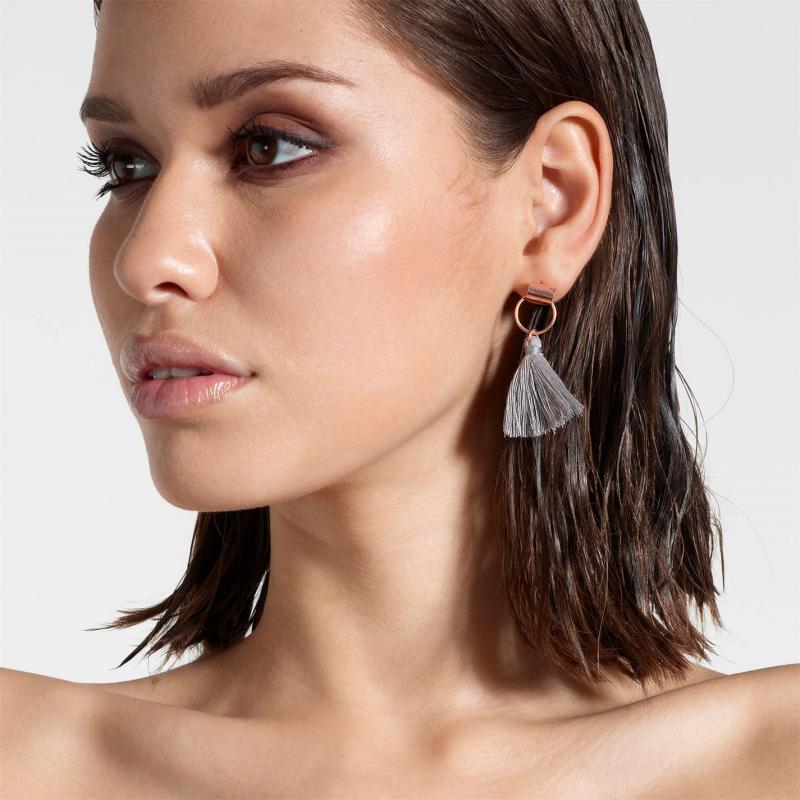 Firetrap Tassel Earrings Ladies Rose Gold