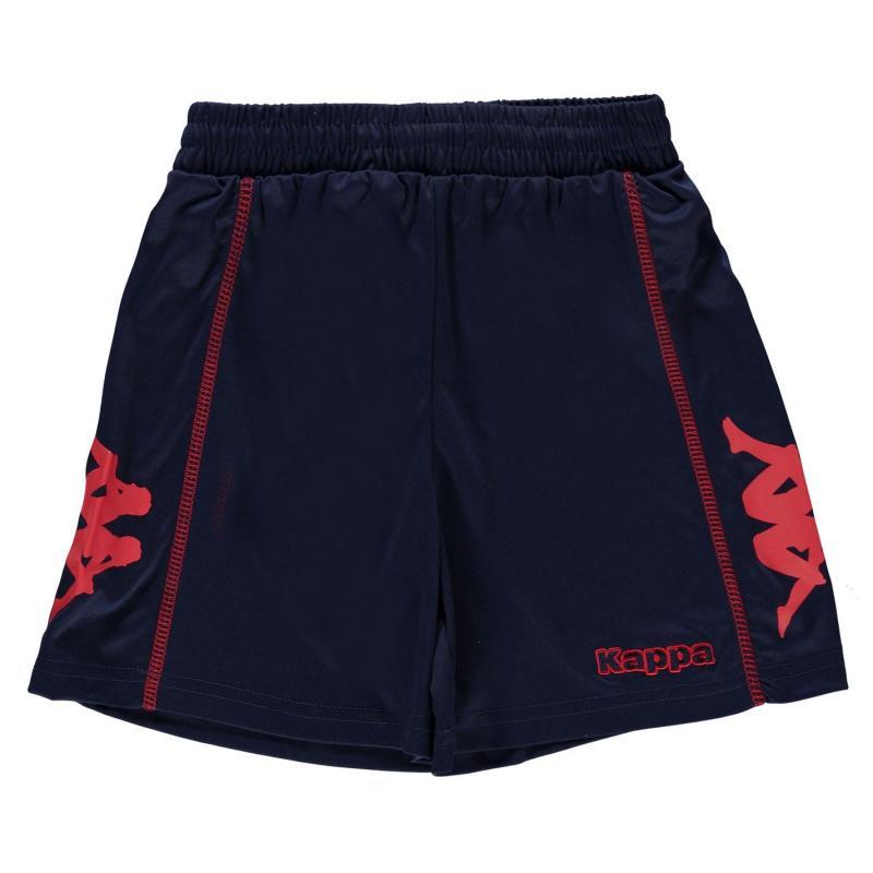 Kraťasy Kappa Alba Shorts Junior Boys Blue Marine/Red