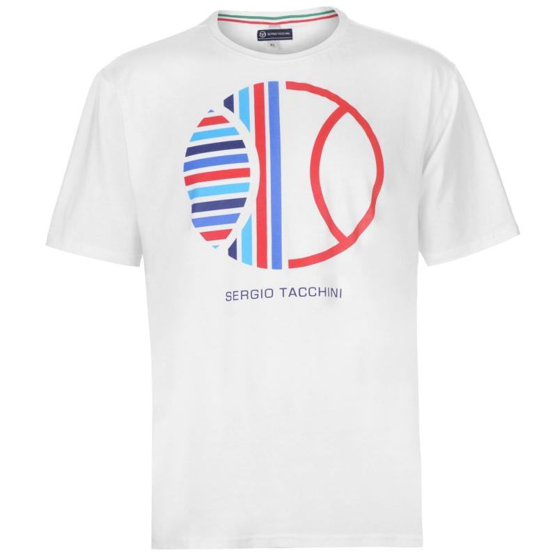 Tričko Sergio Tacchini Zoste T Shirt Mens White/Red/Blue