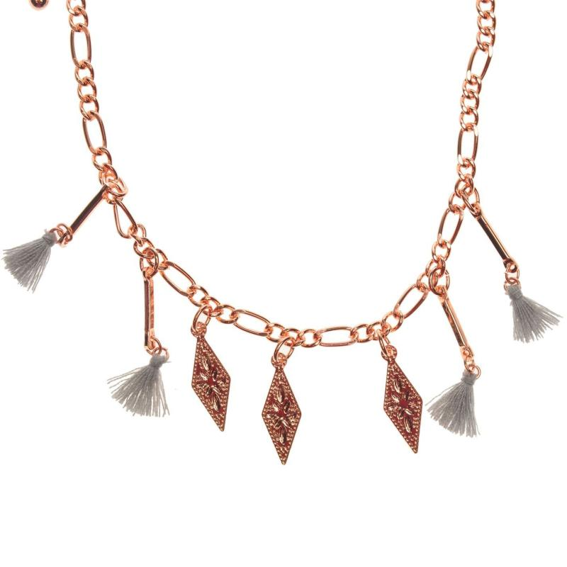 Firetrap Tassel Necklace Rose Gold