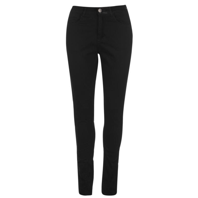 Kalhoty Kangol Skinny Stretch Jeans Ladies Black