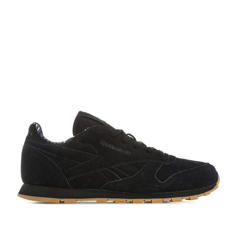 Boty Reebok Classics Junior Boys CL Leather TDC Trainers Black-White