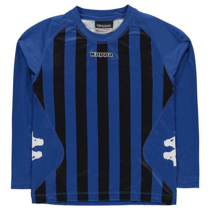 Tričko Kappa Barletta Long Sleeve T Shirt Junior Boys NAUTIC BLUE/BLA